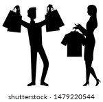 shopping and sale  customer and ...   Shutterstock .eps vector #1479220544