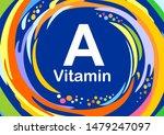 vitamin a retinol vector.... | Shutterstock .eps vector #1479247097