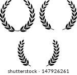 laurel wreaths vector | Shutterstock .eps vector #147926261