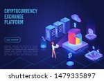 cryptocurrency market  exchange ... | Shutterstock .eps vector #1479335897