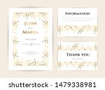 wedding invitation with gold... | Shutterstock .eps vector #1479338981