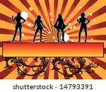 four girls dancing with lights... | Shutterstock .eps vector #14793391
