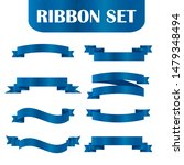 blue ribbons set.vector ribbon... | Shutterstock .eps vector #1479348494