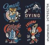 college colorful vintage badges ... | Shutterstock .eps vector #1479352754