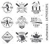 Set Of Cricket And Baseball...