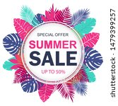 summer sale banner design for... | Shutterstock .eps vector #1479399257