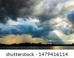 thunder storm sky rain clouds | Shutterstock . vector #1479416114