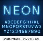neon glowing blue 3d letters...