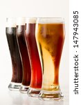 Row Of Beers Isolated On A...