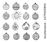 hand drawn christmas ball...   Shutterstock .eps vector #1479455894