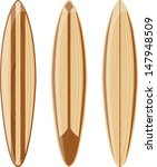 wooden surfboards isolated on...   Shutterstock .eps vector #147948509