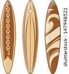 wooden surfboards isolated on...   Shutterstock .eps vector #147948521