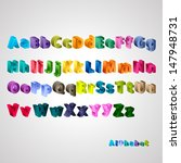 alphabet set   isolated on...   Shutterstock .eps vector #147948731