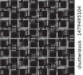 grunge halftone black and white ... | Shutterstock .eps vector #1479495104