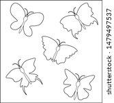 various butterflies silhouettes ...   Shutterstock .eps vector #1479497537