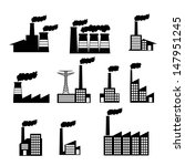 factory icons over white...   Shutterstock .eps vector #147951245