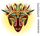aboriginal silhouette on a...   Shutterstock .eps vector #1479525791
