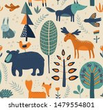 vector seamless pattern with... | Shutterstock .eps vector #1479554801