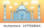 hand drawn taj mahal vector... | Shutterstock .eps vector #1479568064
