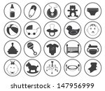 baby icons vector collection | Shutterstock .eps vector #147956999