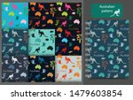 set of vector seamless patterns ... | Shutterstock .eps vector #1479603854