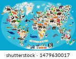 animal map of the world for... | Shutterstock .eps vector #1479630017