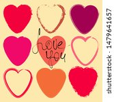 set of grunge pink and red... | Shutterstock .eps vector #1479641657