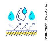 waterproof color line icon....