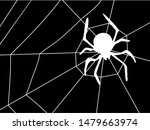 silhouette of a spider on a...   Shutterstock .eps vector #1479663974