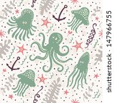 cute seamless pattern with... | Shutterstock .eps vector #147966755
