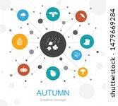 autumn trendy web concept with...