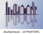 city   silhouettes and...   Shutterstock .eps vector #1479697091