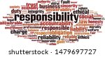 responsibility word cloud...