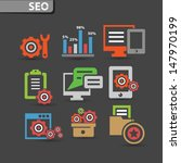 seo icons and software icons... | Shutterstock .eps vector #147970199