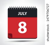 july 8   calendar icon  ... | Shutterstock .eps vector #1479706727