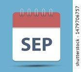 september calendar icon  ...