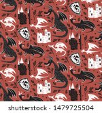 dragon pattern seamless design... | Shutterstock .eps vector #1479725504