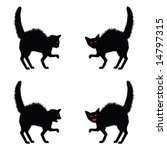 Halloween Cat Silhouette Clip Art