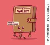 sad wallet walking with no...   Shutterstock .eps vector #1479738677