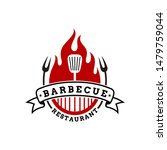 vintage grilled barbecue logo ... | Shutterstock .eps vector #1479759044