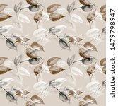 seamless pattern of autumn tree ...   Shutterstock . vector #1479798947