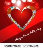 beutiful red background happy... | Shutterstock .eps vector #147982325