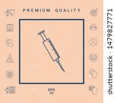 medical syringe icon. graphic... | Shutterstock .eps vector #1479827771