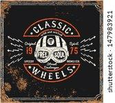 vintage motorbike race   hand... | Shutterstock .eps vector #147983921