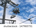 ski lift chairs on bright... | Shutterstock . vector #147985751