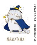 cute scottish fold gray cat... | Shutterstock .eps vector #1479859664