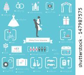 Wedding Planner Icons and Infographics  | Shutterstock vector #147987575