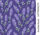beautiful lavender pattern.... | Shutterstock .eps vector #1479904274