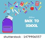 back to school poster template  ...