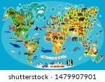animal map of the world for... | Shutterstock .eps vector #1479907901
